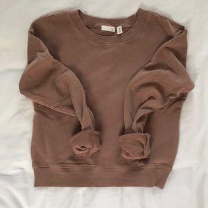 Comfy Cropped Dressy Sweatshirt